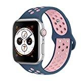 AdMaster Compatible with Apple Watch Bands 42mm 44mm,Soft Silicone...