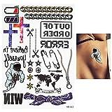 HXMAN 3pc 3d Tatuaje Máquina Engranaje Robot Brazo Pierna Calcomanía Impermeable Tatuaje Hb088 Sexy Hombres Hombres Cuerpo Arte Temporal Tatuaje Pegatina HB643