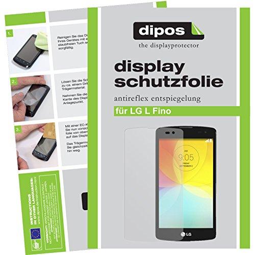 dipos I 2X Schutzfolie matt kompatibel mit LG L Fino Folie Bildschirmschutzfolie