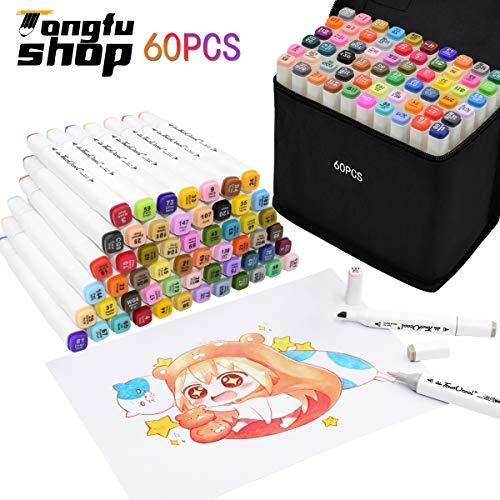 Rotulador 60 Colores Marker Pen Marcadores Manga Creativos