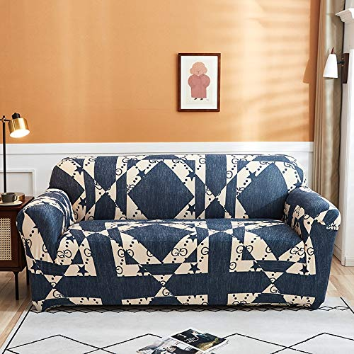 ASCV Fundas Protectoras de sofá Impresas para Sala de Estar Funda elástica elástica Fundas seccionales para sofá de Esquina A6 1 Plaza