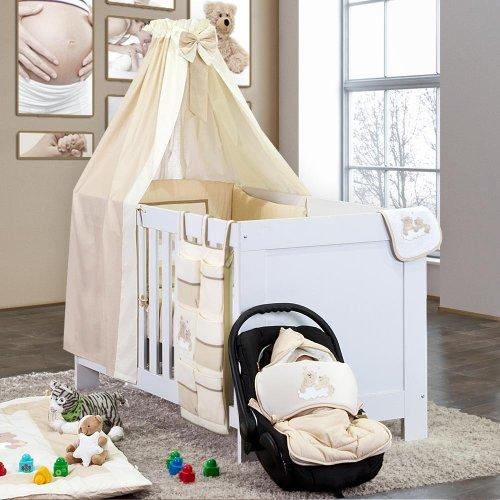 7-delige Beddenpakket Joy in beige incl. babyvoetenzak en hoeslaken