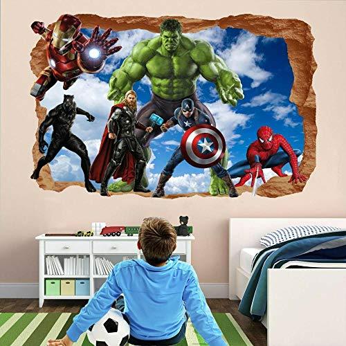 HUAXUE Super Wall Sticker Mural Decal Spider Iron