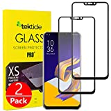 Tektide Screen Protector Compatible for Asus Zenfone 5Z ZS620KL, [Edge to Edge Coverage] Drop-Protection Shatter-Proof Safety Laminated Tempered Glass Screen Cover/Display Shield [2 Pack]