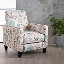 Christopher Knight Home Dufour White and Blue Floral Fabric Recliner