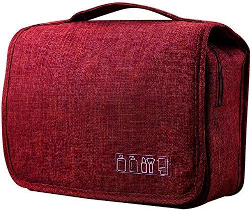 favorite トラベルバッグ ポーチ 多機能 大容量 旅行 バッグ 吊り下げ可能 シンプル デザイン トラベルウォッシュバッグ (レッド)