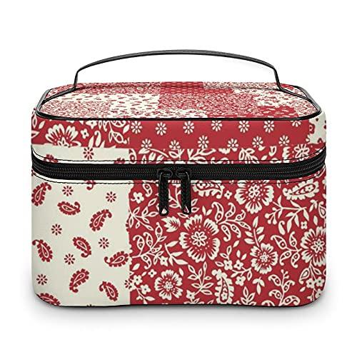 Bonita bolsa de aseo impermeable, bolsa de viaje con cremallera, organizador de maquillaje, bolsa de maquillaje para aparador, baño, hombres y mujeres, Blanco-estilo-1, 25x18x15cm,