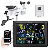 Famistar Professional WiFi Weather Station Come with Outdoor Sensor,14 Function-in-1 Provide Immersive Weather Data.Magnum LCD Screen. Easy&Smart Gardening Helper.