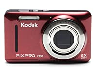 "Kodak PIXPRO Friendly Zoom FZ53-RD 16MP Digital Camera with 5X Optical Zoom and 2.7"" LCD Screen (Red) by JK Imaging Ltd"
