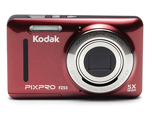 Kodak PIXPRO Friendly Zoom FZ53-RD 16MP Digital Camera with 5X Optical Zoom and 2.7' LCD Screen...