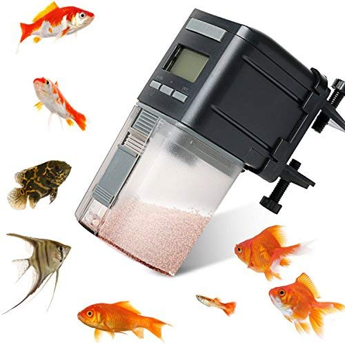 Fish Feeder,Automatic Fish Feeder Battery Operated Aquarium Tank Auto Pet Fish Food Feeder Timer...