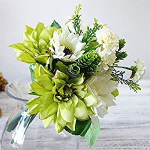 TRRT Fake Plants Silk Dahlia, Sunflowrs, Daisy Artificial Hand Flowers for Wedding Decoration Fake Flower
