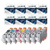 LCL Cartouche d'encre Compatible CLI-42 CLI42(8-Pack BK C M Y PC PM GY LGY) Remplacement pour Canon PIXMA Pro-100