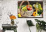 GBHNJ 1 Piezas Impresiones En Lienzo Cesta De Verduras 1 Piezas Cuadro sobre Lienzo,Cuadro En Lienzo 1 Piezas,Pintura Decoración 1 Piezas,HD Mural Moderno Decor Hogareña,50X70Cm