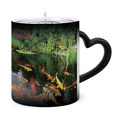 aosup Big Kois Heat Sensitive Coffee Magic Mugs - Coffee Tea Unique Changing Heat Cup 12 oz Mugs Gift Idea for Mom Dad Women & Men Style-109680