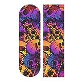 Skull Puttern Skateboard Grip Tape Sheet Scooter Deck Sand Paper 9' x 33'