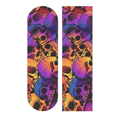 Skull Puttern Skateboard Griptape Blatt Roller Deck Sandpapier 22,9 x 83,8 cm