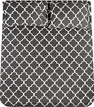 Utopia Bedding - Juego Sábanas de Cama Estampadas - Microfibra Cepillada - Sábanas y 2 Fundas de Almohada - (Cama 135, Gris)