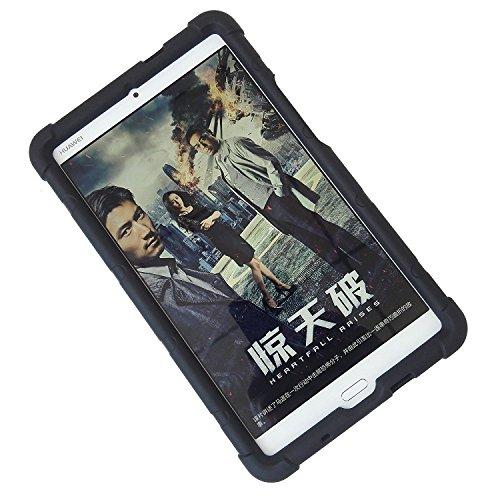 MINGSHORE Case for Huawei MediaPad M3 8.4 BTV-DL09 BTV-W09 Silicone Rugged Tablet Case Black