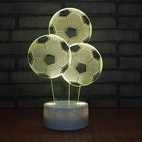 Fußball Ballon Kreativer Lautsprecher 3D LED Nachtlicht USB Tischlampe Kinder Geburtstag Geschenk Nachtdekoration am Bett