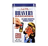 Archie McPhee Bravery Bandages - First Aid in A Tin - Plasters/Band Aids