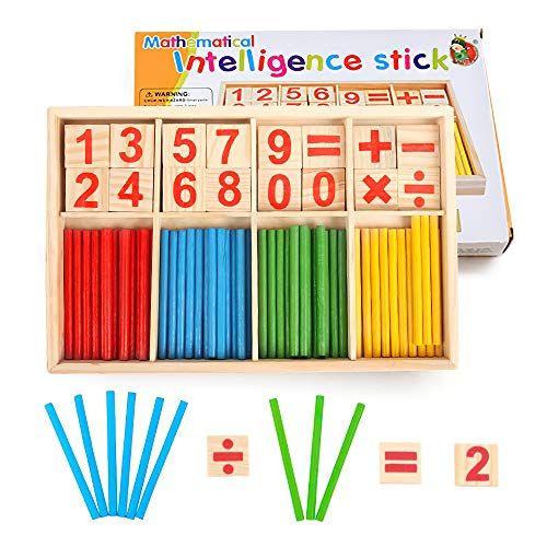 Yo! Wow Wooden Counting Sticks Colorful Number Rads