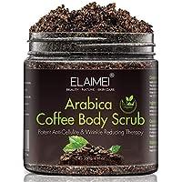 Exfoliante de café natural con exfoliante corporal orgánico de café, el mejor tratamiento para el acné, anticelulítico y estrías, terapia de venas araña para venas varicosas y eccema