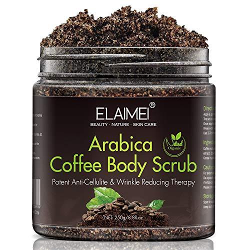 Gommage au café naturel avec gommage corporel au café biologique, meilleur traitement contre l'acné, la cellulite et les vergetures, thérapie de la veine d'araignée pour les varices et l'eczéma