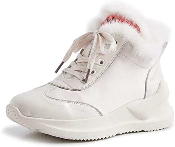 Yanyan Bottines pour Femmes Bottes d'hiver Chaudes Les Les dames Bottes De Neige Antidérapantes Chaussures Décontractées Talon Plat Bottes Courtes Chaussures Sport