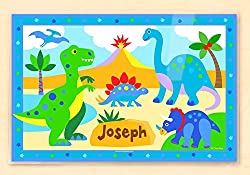 6. Olive Kids Dinosaur Personalized Placemat