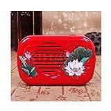 Ximimark Mini Lotus Buddhist Buddha Pray Music Machine with 22 Buddha Songs Incantation,Red