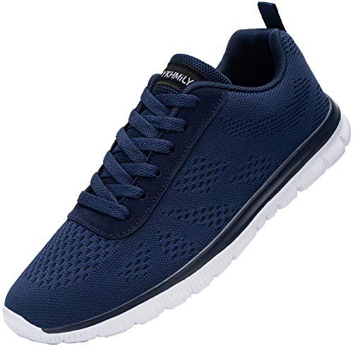 Zapatos de Seguridad Hombres Zapatillas de Seguridad Calzado Seguridad Zapatos de Trabajo con Punta de Acero Respirable Construcción Zapatos(Azul Blanco,36) 🔥