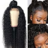 BLISSHAIR Peluca de cabello humano Rizado Cabello remy virgen brasileño Water wave Short Wig Lace Front 16 inch
