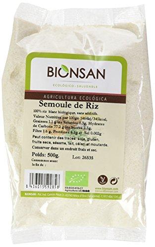 BIONSAN - BIO - Semoule de Riz 500 g - Lot de 6