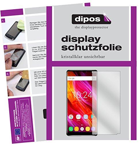 dipos I 6X Schutzfolie klar kompatibel mit Oukitel Mix 2 Folie Bildschirmschutzfolie