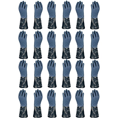 Atlas 720 Dipped-Nitrile Blue Chemical Resistant X-Large Work Gloves, 24-Pairs