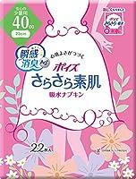 ポイズ さらさら素肌 吸水ナプキン 安心の少量用40cc 22枚 (ふとした尿もれケアに)×7個