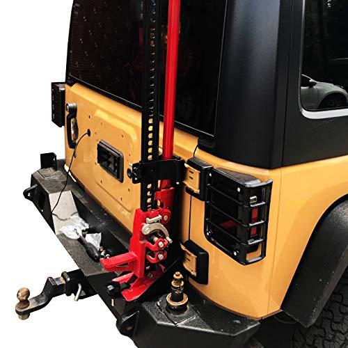 OMOTOR Off-Road Tailgate High Lift Jack Mount Bracket fit for Jeep Wrangler JK 2007 2008 2009 2010 2011 2012 2013 2014 2015 2016 2017 2018 JK Tailgate Hi-Lift Jack Mount Bracket