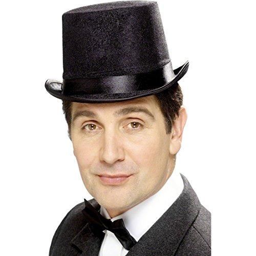 NET TOYS Chapeau Haut-de-Forme de Gentleman Noir 58 - 60 cm - Chapeau Haut de Forme - Chapeau Anglais - Haut-de-Forme de déguisement - Chapeau pour Homme - Haut de Forme de Mariage