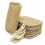 Esponja natural lavavajillas natural (paquete de 8) | estropajo ecologico, libre de plástico y biodegradable. Esponja natural de cocina reutilizable, estropajo cocina.