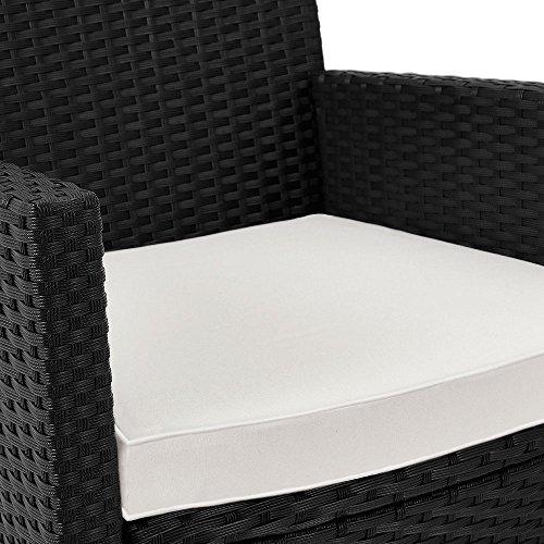 Polyrattan Sitzgruppe 8+1 Tisch aus Akazienholz Gartenmöbel Lounge Gartenset Sitzgarnitur Rattan - 5