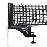 Sanung S405 Thickened Table Tennis Net and Post Set, Professional Foldable High Duty Ping Pong Screw on Clamp...