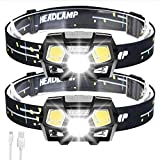 Best Rechargeable Headlamps - 2Packs LED Headlamp Rechargeable USB Flashlights, 800 Lumens Review