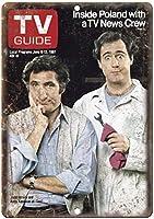 Taxi Tv Show Andy Kaufman Tv Guide ティンサイン ポスター ン サイン プレート ブリキ看板 ホーム バーために