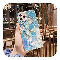 for iphone 12 グラディエントレーザーカラフルな電話ケースのためのファッション 11 12 12 11Pro Max XR XS Max X 7 8 8 プラス 12 11Pro SE 2020 RainbowSoft IMDバックカバー-T11-for iPhone 8