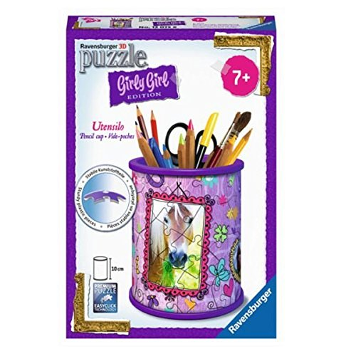 Ravensburger 12075 Girly Girl Edition Utensilo Pferde 3D-Puzzle