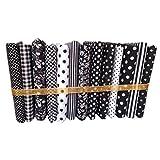 Guangcailun 13pcs 50x50cm Serie Negro de Tela de algodón de Coser muñecas Monedero Trabajo Hecho a Mano DIY Remiendo Tela