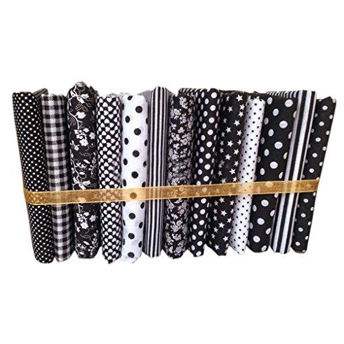 Techting / 13pcs 50x50cm Black Series Baumwolle Nähen Tuch-Puppen-Geldbeutel-Handarbeit DIY Patchwork-Gewebe