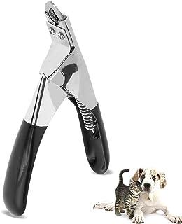 Fdit Husdjur hund nagelklippare dedikerade nagelsax tå klo sax klippare trimmer skärare för små djur (svart)