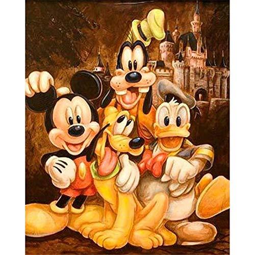 DIY 5D Diamant Malerei Kits für Erwachsene Kinder Duck Mickey Mouse und Donald Duck Diamond Painting Full Drill Kristall Strass Stickerei Kreuzstich Arts Craft Dekoration für Home Wall Decor B10364